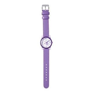 Kipling Kids Purple Leather Strap Quartz Watch