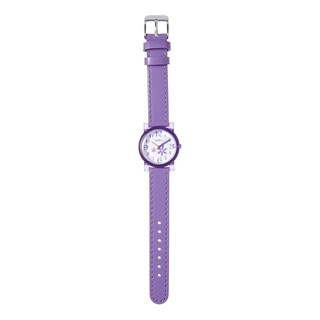 Kipling Kids Purple Leather Strap Quartz Watch