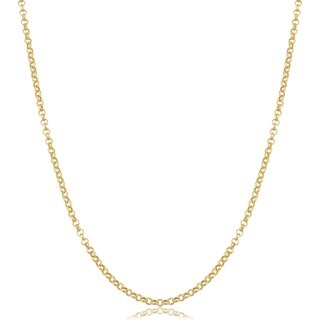 Fremada 14k Yellow Gold Delicate Rolo Chain Necklace (5 options available)