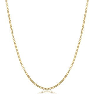 Fremada 14k Yellow Gold Delicate Rolo Chain Necklace