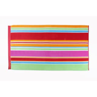 Panama Jack Beach Zanzibar Stripe 40x70 Cotton Jacquard Beach Towel