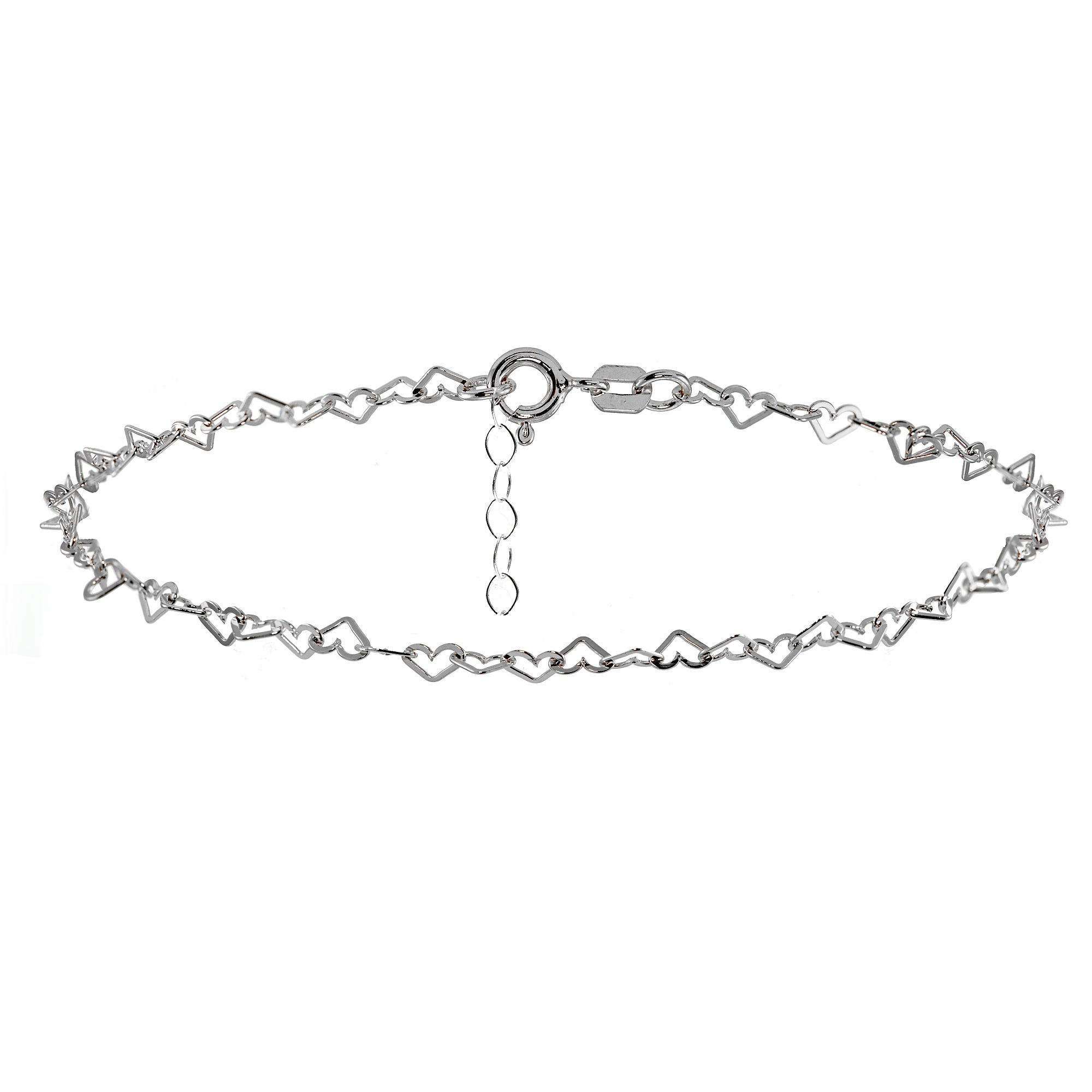 sterling plain quick view shape chain anklet amusing white silver black