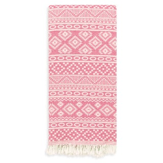 Authentic Pestemal Fouta Sienna Geometric Stripe Turkish Cotton Bath/ Beach Towel