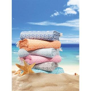 Authentic Pestemal Fouta Sienna Geometric Stripe Turkish Cotton Bath/ Beach Towel