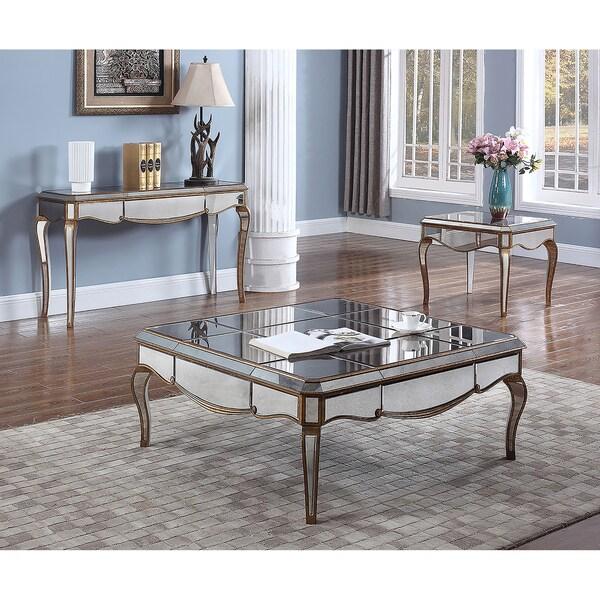 Shop Best Master Furniture Weathered Oak Sleigh: Shop Best Master Furniture FRA2018 Silver Square Coffee