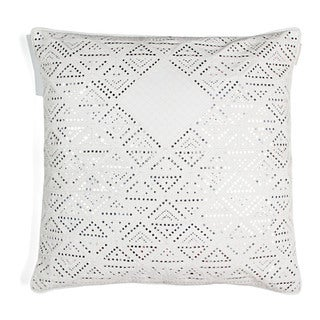 White Silk Diamonds Throw Pillow