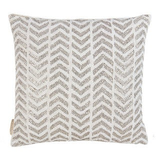 Shiny Herringbone Throw Pillow