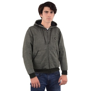 MEN'S ZIPPER FRONT HEATED HOODIE WITH FRONT & BACK HEATING ELEMENTS