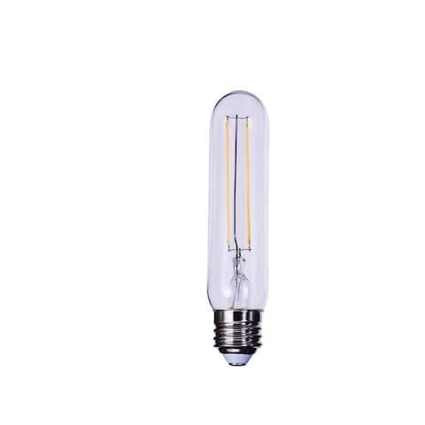 Goodlite LED Tubular Bulb, T10 Shaped, Dimmable E26 Base 60W Equi. Edison Decorative Filament Light (5 Pack)