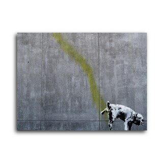 """Banksy """"Wall Relief"""" Brushed Aluminum Wall Art"""
