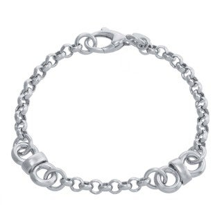 Athra Luxe Collection Sterling Silver Basket Weave Bracelet