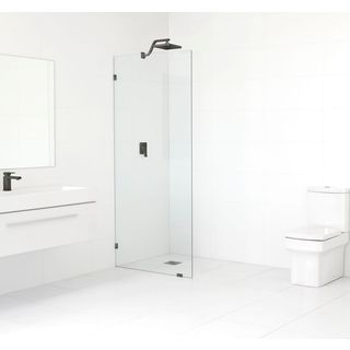 Glass Warehouse 78-inch x 30-inch Frameless Shower Single Fixed Panel