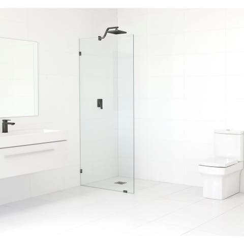 Glass Warehouse 78-inch x 33.5-inch Frameless Shower Single Fixed Panel