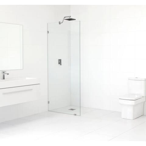 Glass Warehouse Clear Glass 78 x 29 Frameless Shower Single Fixed Panel