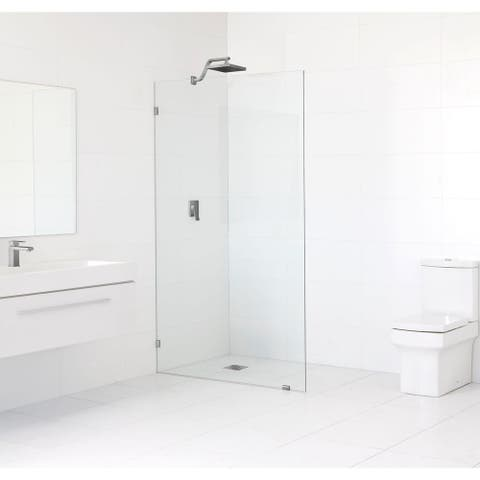 Glass Warehouse 78-inch x 34.5-inch Frameless Shower Single Fixed Panel