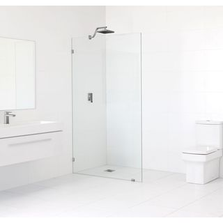 Glass Warehouse 78-inch x 35.5-inch Frameless Shower Single Fixed Panel