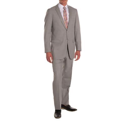 Ferrecci Men's Ford Grey Regular-fit 2-piece Suit