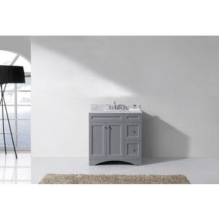 Virtu USA Elise 36-inch Round Single Bathroom Vanity Set with No Mirror