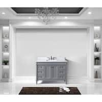 Tiffany 48-inch Single Bathroom Vanity White Marble No Mirror