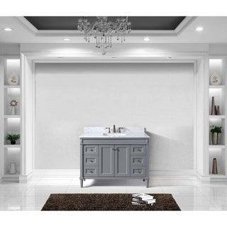 Tiffany 48-inch Single Bathroom Vanity White Marble No Mirror