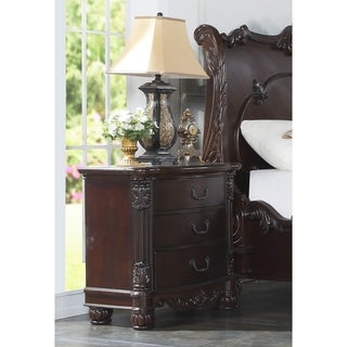 Saillans Cherry Finish Solid Wood Construction Fully Assembled Night Stand