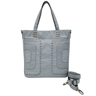 Bueno Washed Whip Stich Panels Tote Bag