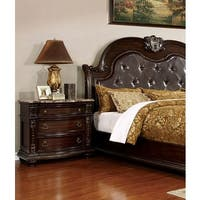 Fromberg Brown Wood 3-drawer Nightstand