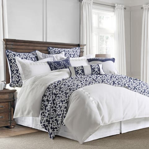 HiEnd Accents 4-Piece Kavali Comforter Set with Embroidery Detail