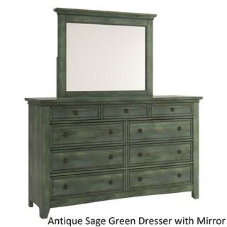 Ediline 9-Drawer Wood Modular Storage Dresser and Mirror by iNSPIRE Q Classic