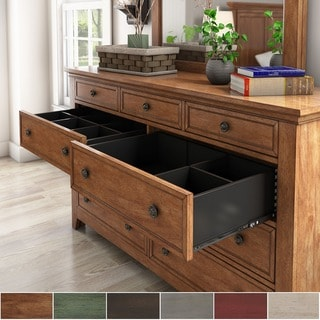 Copper Grove Virrat 9-drawer Wood Modular Storage Dresser and Mirror
