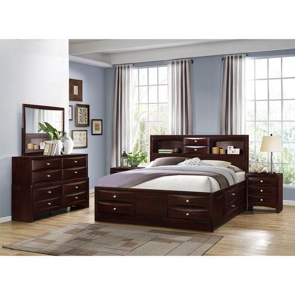 Shop Ankara Espresso Finish Wood Bedroom Set, Includes