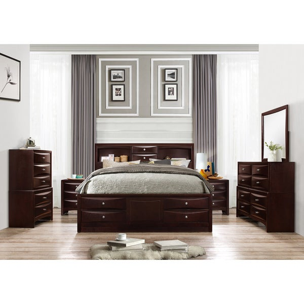 Bedroom Furniture Sets Klarna: Shop Ankara Espresso Finish Wood Bedroom Set, Includes