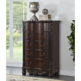 Saillans Cherry Finish Solid Wood Construction Fully Assembled Chest