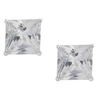 Sterling Silver Princess-Cut Cubic Zirconia Stud Earrings https://ak1.ostkcdn.com/images/products/15959897/P22357913.jpg?impolicy=medium