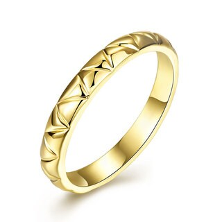 Gold Plated Laser Cut Design Ring