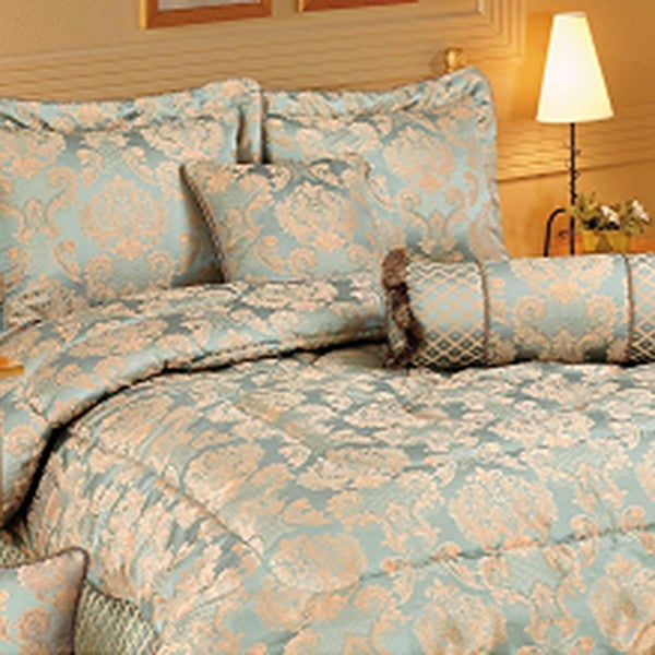 HiEnd Accents 7-piece Light Blue King Comforter Set