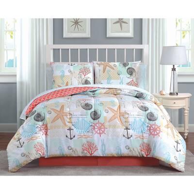 Belize Coastal Printed Reversible Comforter Set