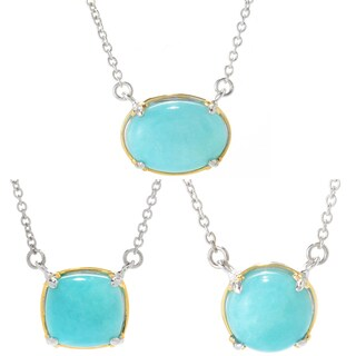 Michael Valitutti Palladium Silver Choice of Shape Amazonite Necklace