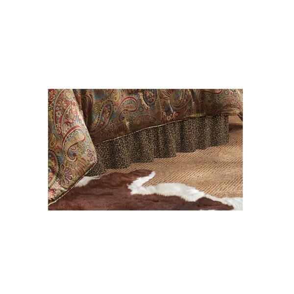 Hiend Accents Leopard Bedskirt