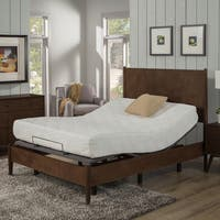 AC Pacific 10-Inch Twin XL-size Gel Memory Foam Mattress and Deluxe Adjustable Bed Base Set