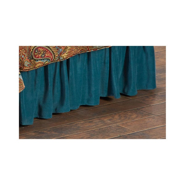 Hiend Accents Teal Bedskirt
