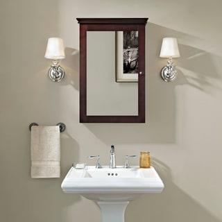 Lydia Mirrored Wall Cabinet in Espresso