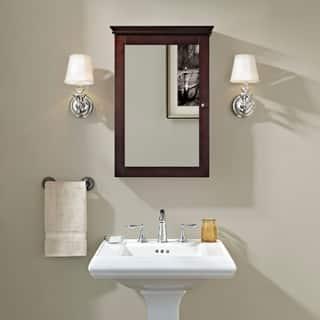 Lydia Mirrored Wall Cabinet- Espresso