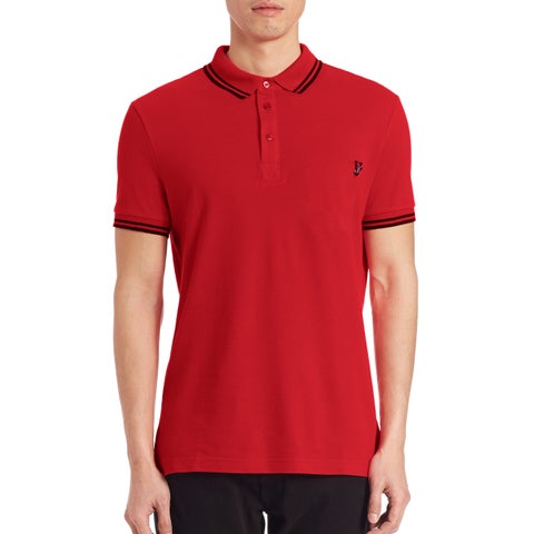 Versace Jeans Red Pique Logo Polo T-shirt