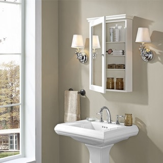 Lydia Mirrored Wall Cabinet in White