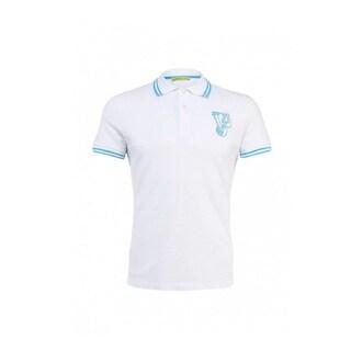 Versace Jeans White Pique Tiger Logo T-shirt