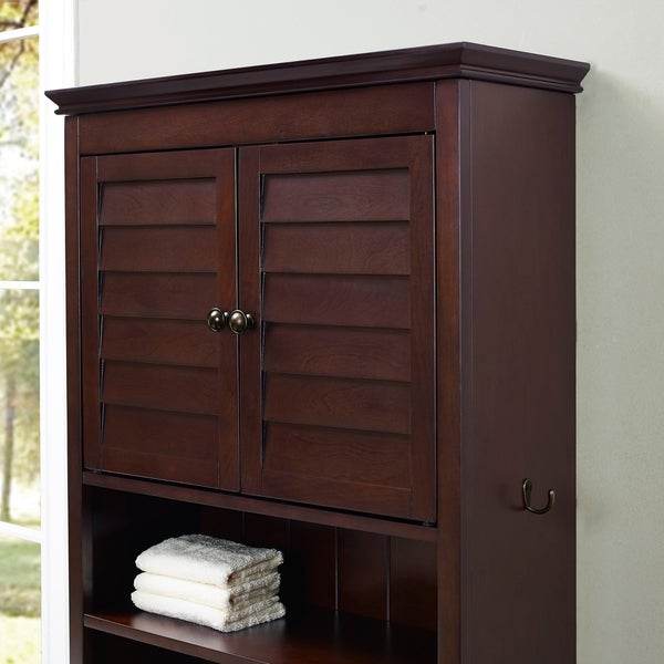 Crosley Furniture Lydia Space Saver Bathroom Cabinet Espresso