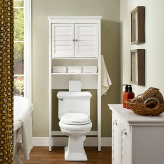 crosley lydia white wood space saver cabinet