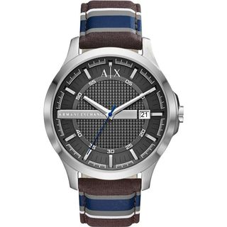 Armani Exchange Men's AX2196 'Dress' Blue, Brown and Grey Fabric Watch