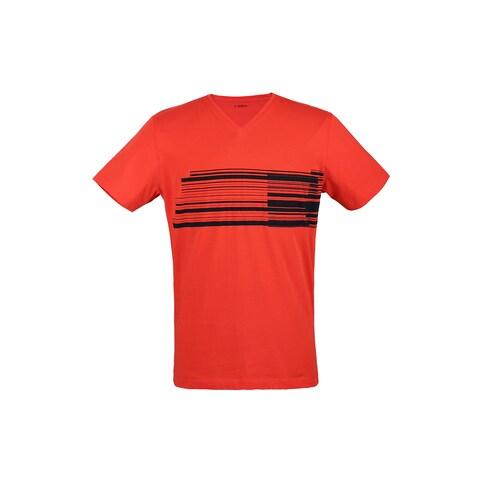 Z Zegna Red Wraparound Bar T-shirt